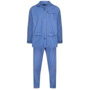 Robson heren pyjama blauw gestreept