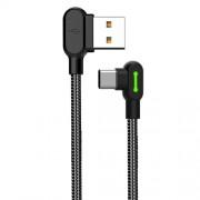 Mcdodo USB-A till USB-C-kabel, 0.5m, vinklade kontakter