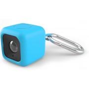 Polaroid Cube 90cm draagriem met silliconen bescherming en metalen klip - Blauw