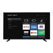 """Sharp 58"""" ROKU TV 4K Televisión Inteligente UltraHD HDR WiFi Netflix Youtube HBO Hulu Y Muchas Aplicaciones Más LC-58Q7330U (Renewed)"""
