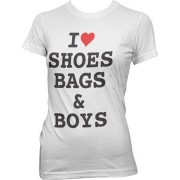 I Love Shoes, Bags & Boys Girly Tee, Girly Tee