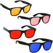 Elligator Wayfarer Sunglasses(Red, Yellow, Pink, Blue)