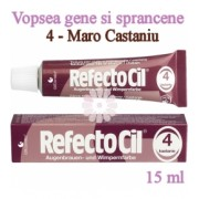 Vopsea Gene si Sprancene RefectoCil 15ml - 4 Maro Castaniu