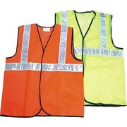 Safety Jacket with 2 PVC reflective tape Pack of 1 (10 pcs )