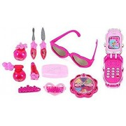 Babytintin Girl's Fashion Mirror Hairdryer and Styling Accessories Make Up Beauty Set (Pink)