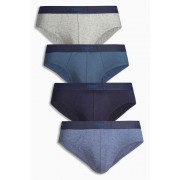 Mens Next Blue Briefs Four Pack - Blue