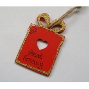 Personalised christmas present decoration