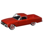 1960 Ford Ranchero Pickup Truck, Red - Motormax 79321 - 1/24 Scale Diecast Model Car