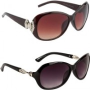 GLAND Butterfly Sunglasses(Brown, Black)