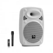 "Streetstar 8 Sistema de PA Móvel 8"" (20 cm) Microfone UHF 200 watts máx. branco"