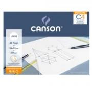 > Album pochette C4 carta da disegno 24x33cm 200gr 20fg liscio Canson (unit
