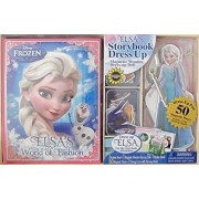 Disney Frozen Elsas Storybook & Dress Up Wooden Magnetic Doll Activity Set W Activity Story Book, Wooden Magnetic Elsa Doll, 50 Magnetic Pieces (Incl. 2 Olaf Figures), Storage Box & More! (2015)