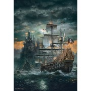 Puzzle Clementoni - The Pirate Ship, 1.500 piese (62395)