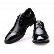Zapatos Oxford De Costura Y Ecocuero Para Hombre E-Thinker - Negro