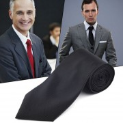 EY Solid Series Corbata Del Lazo Del Partido Lazo Lazo Para Hombre Del Pañuelo De La Mancuerna Conjunto Clásico Negro.