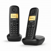 Siemens Gigaset A170 Teléfono Dect Duo Negro