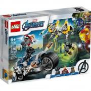 set de construcción lego super héroes vengadores: ataque en moto 76142