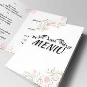 Meniuri cu motive florale pentru nunta