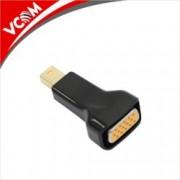 Преходник VCom CA335, от Mini DisplayPort(м) към VGA(ж), черен