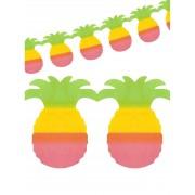 Deguisetoi Décoration de fête hawaïenne guirlande ananas