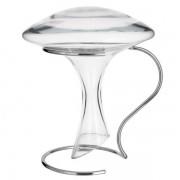 Maisons du monde Decanter da vino in vetro + supporto in metallo