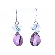 Cercei Swarovski Elements Purple Diamond