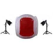 Zestaw oświetleniowy bezcieniowy - 2x45Ws + namiot 60cm+ 2x statyw 80cm