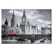 Puzzle Educa - Black & White Collection: London Bus, 1000 piese, include lipici puzzle (15180)