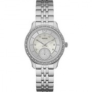 Guess Womens Whitney 35mm Steel Bracelet & Case Quartz Silver-Tone Dial Analog Watch W0931L1