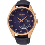 Seiko Round Dial Multicolor Leather Strap Chronograph Watch for Men - SRN062P1