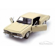 1968 Chevy Chevelle Ss396 , Cream Welly 29397 1/24 Scale Diecast Model Toy Car