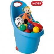 Кош за играчки с колелца Keter Kiddies Go - син