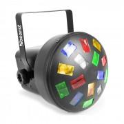 LED Mini Mushroom 6x LEDs RGBWA 3W Modo Automático ou Modo Controlado P/ Música