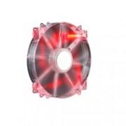 Вентилатор 200mm, CoolerMaster MegaFlow 200, Red LED, 3-пинов, 700 rpm