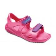 Crocs Swiftwater™ River Sandalen Kinder Paradise Pink/Amethyst 29