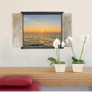 Sticker perete Sunset 3D Window