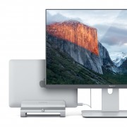 Satechi Universal Vertical Aluminium Laptop Stand - вертикална алуминиева поставка за MacBook и лаптопи (сребриста)