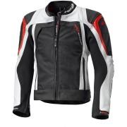 Held Hashiro Motocyklová kožená/textilní bunda 52 Černá Bílá červená
