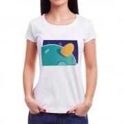 Tricou femei Căpița pe Luna Albastră Învie Tradiția alb/negru