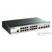 D-Link 28-Port 10/1000/1000 Mbps Gigabit Stackable PoE Layer 3 Smart Switch 2 10G SFP+ și 2 SFP porttal (DGS-1510-28P)