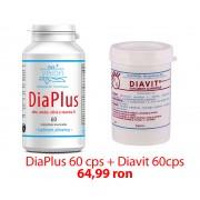 Pachet Diaplus + Diavit, Tratament Natural Eficient Pentru Diabet