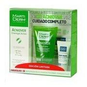 Kit acniover creme-gel 40ml+gel purificante 50ml+pure mask 5ml+ esfoliante 4ml - Martiderm
