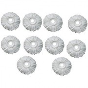 Best Home Pack of 10 Replacement Head Refill for 360 Rotating Easy Spin Mop Cleaner Duster