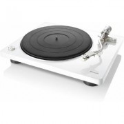 Denon DP400, white turntable with speed auto sensor
