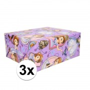 Disney 3x Disney inpakpapier Sofia het prinsesje 200 x 70 cm op rol