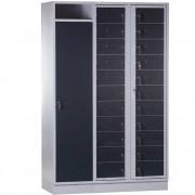 CAPSA 22-Vaks uitgifte locker met wasopvangkast (Gegalvaniseerd)
