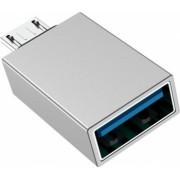 Adaptor OTG MicroUSB to USB Borofone BV2 Incarcare si Transfer Argintiu