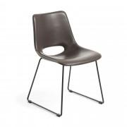 Kave Home Cadeira Zahara castanha escura