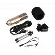EY Diafragma Grande Pro Estudio De Grabación De Micrófono Para Ordenador Teléfono MK-F500TL-Color Champán