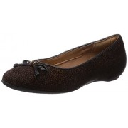 Clarks Women's Alitay Giana Black and Brown Leather Flats - 6 UK